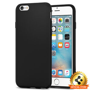 classic fit 52d0d b5789 Details about Spigen® Apple iPhone 6 / 6S [Liquid Crystal] Ultra Slim Black  TPU Case Cover