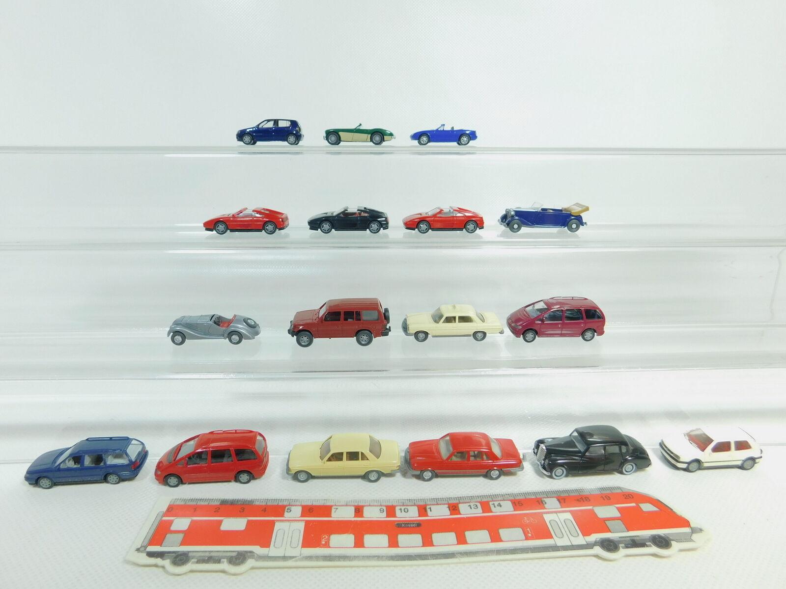 BO625-1 x Wiking H0   1 87 Car  VW + MB + Ferrari+ Mitusbishi+ Audi etc. ,2.