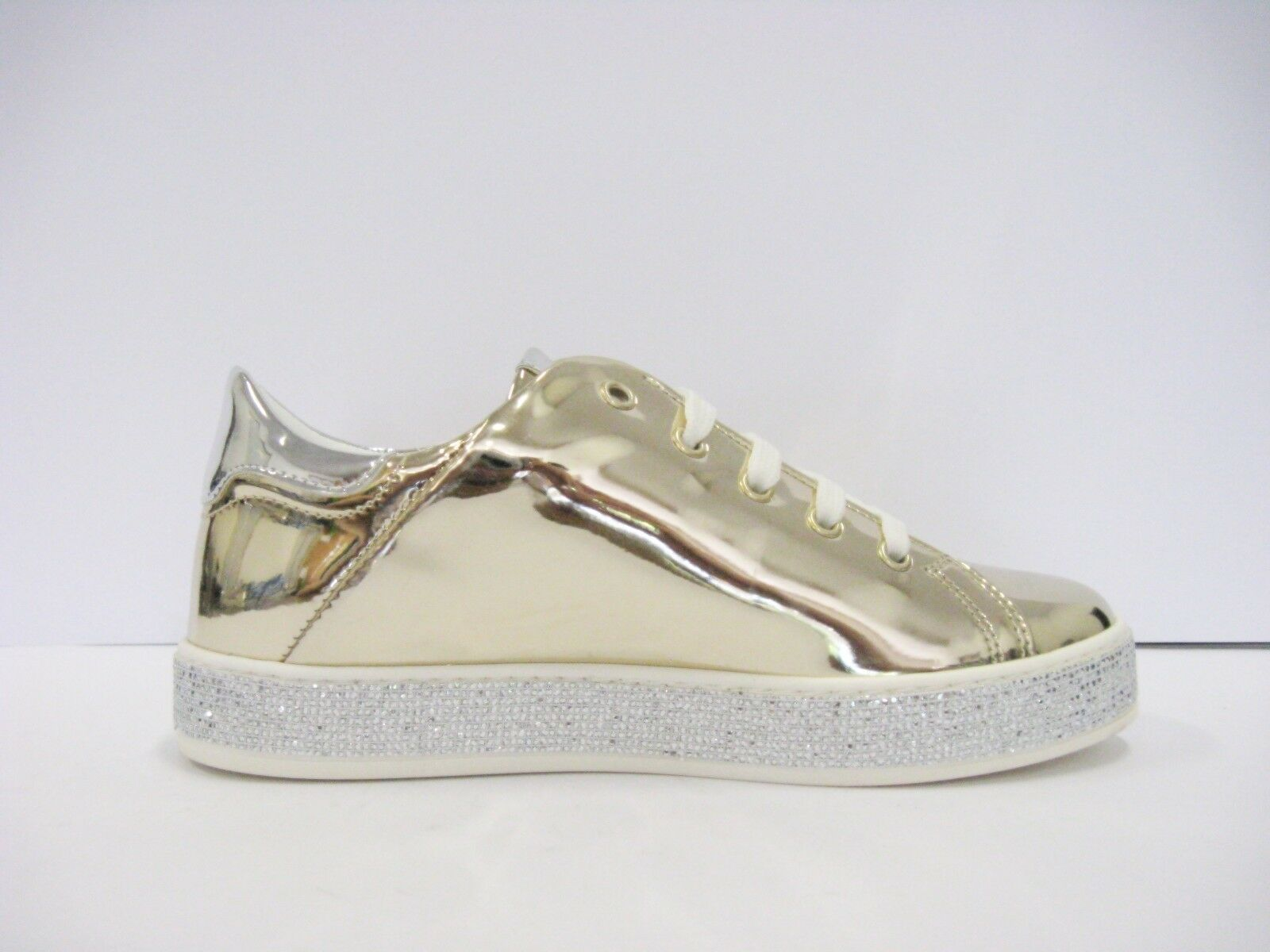 LIU JO sneakers donna gioiello oro agyness lacci suola con strass
