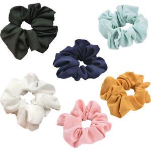 Lady-Pure-Color-Trendy-Hair-Scrunchie-Ring-Elastic-Bobble-Dance-Scrunchie-Xmas