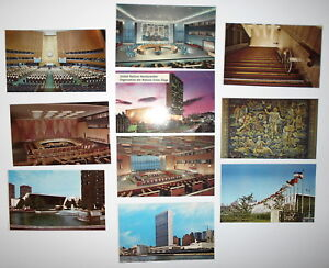 LOT-OF-10-UNITED-NATIONS-NEW-YORK-NY-POSTCARDS