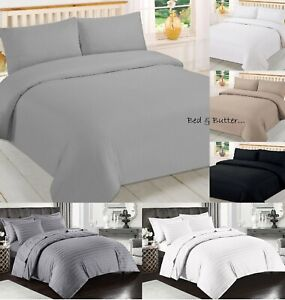 100/% EGYPTIAN COTTON 500 THREAD COUNT FLAT FITTED SHEETS OR DUVET OR 4 PC GREY