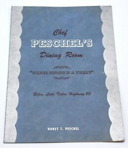 Vintage-CHEF-PESCHEL-039-S-DINING-ROOM-Bijou-Lake-Tahoe-Restaurant-Menu