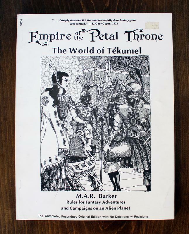 Empire of the Petal Throne World of Tekumel RPG 1983 TSR Gamescience Dixie Press