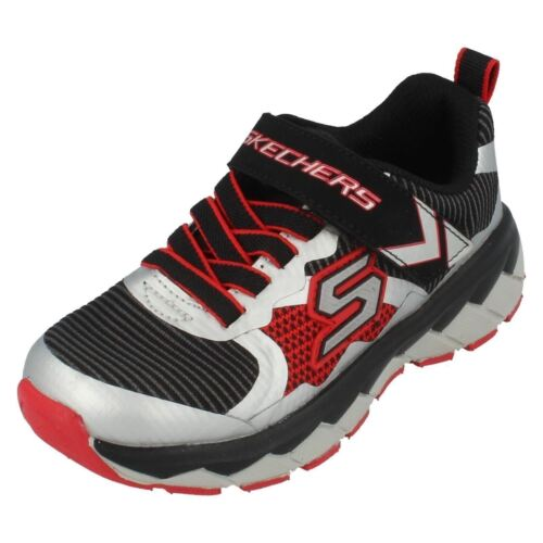 Silver perplex Black Skechers Boys Sneakers Red Zipperz XFq640w