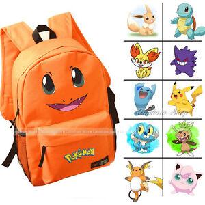 16-Style-Pokemon-Large-School-Backpack-Pikachu-Characters-Girl-Boy-Book-Bags