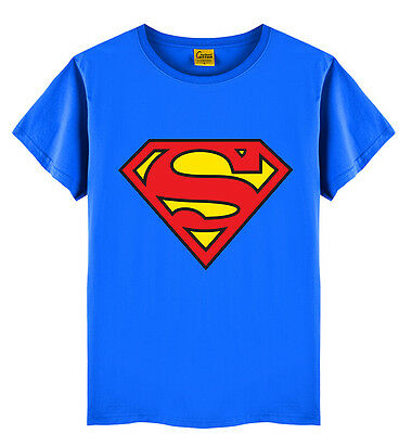 2015 Cotton Kids Boys Superman T-Shirt Short Sleeve Children Tees Costume Top CA