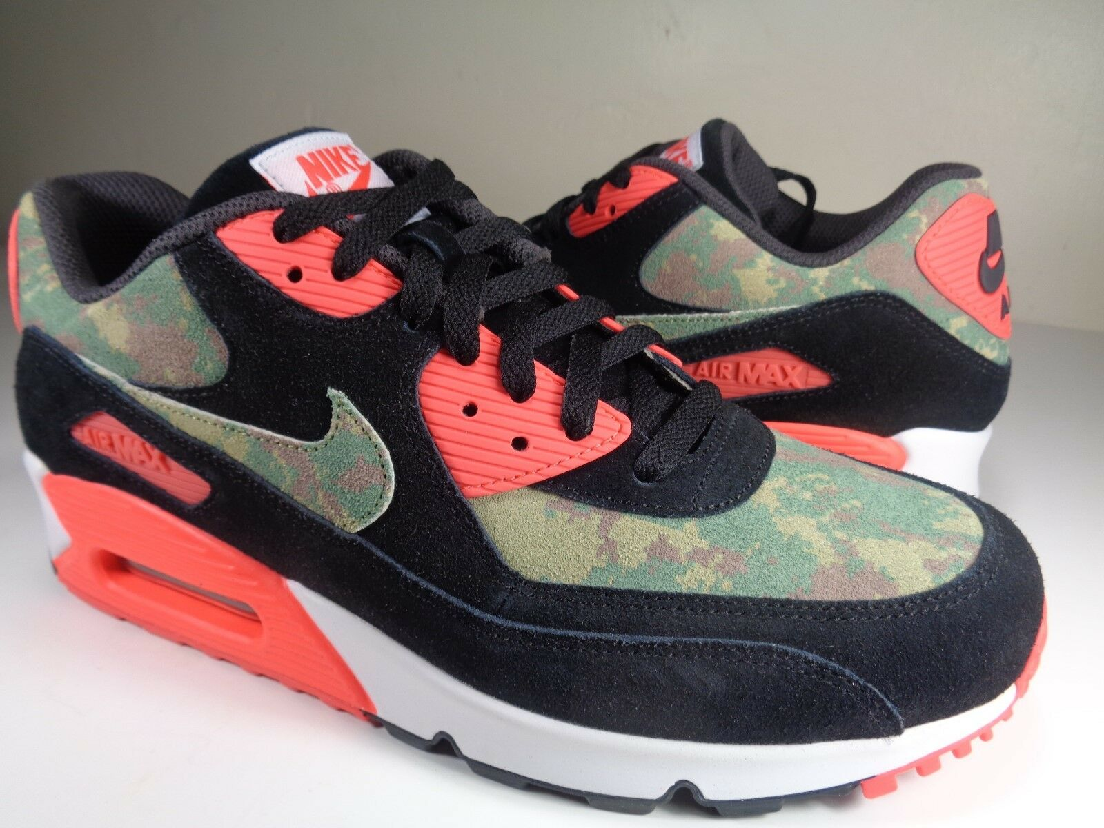 Nike Air Max 90 PRM Camo Unreleased Infrared Black White Atmos SZ 9 (700155-003)