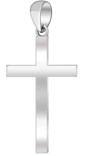1.75in Men/'s 0.925 Sterling Silver Religious Cross Pendant