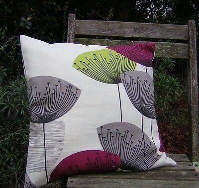 Sandersons /'diente de león Wallpaper/'s Red Cushion Covers