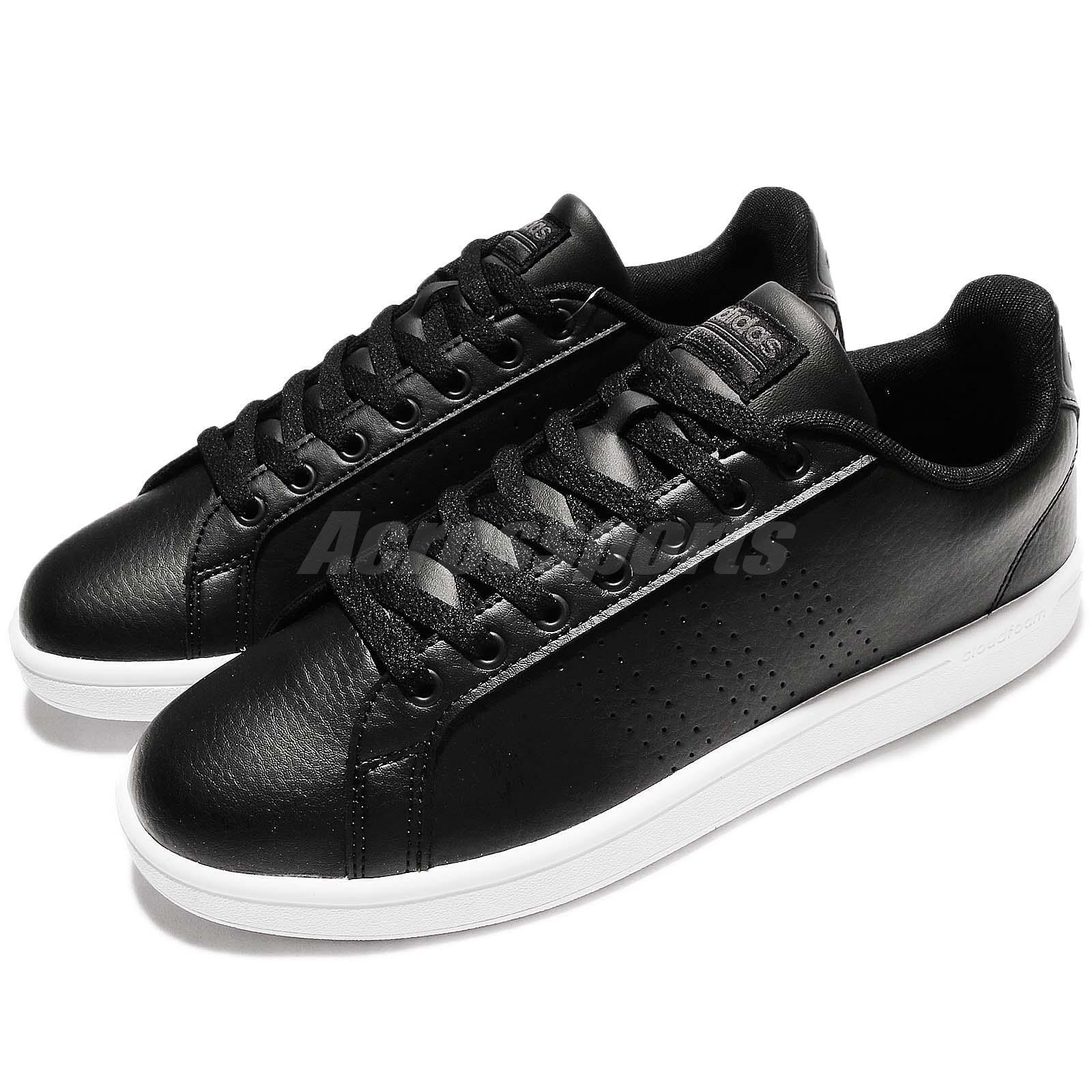 adidas Neo Cloudfoam Advantage Clean Noir Blanc Leather Men Chaussure Basket AW3915