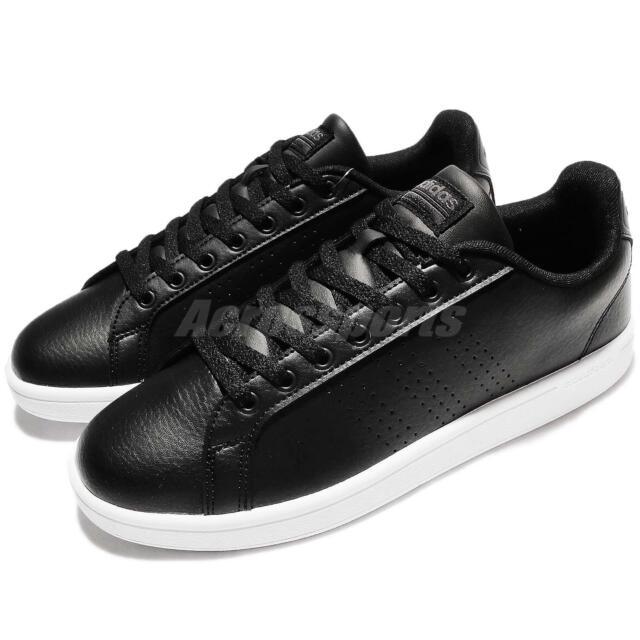 e447c23df046 adidas Neo Cloudfoam Advantage Clean Black White Leather Men Shoe Sneaker  AW3915