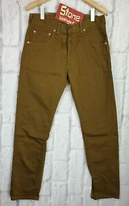 Levi-039-s-Vintage-Clothing-LVC-Bedford-Hellbraun-Schnuere-Jeans-Neu-155-USA-w31-l31