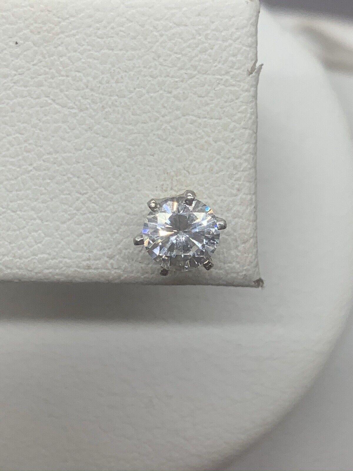 Vinatge Signed Monet Crystal Stud Earrings - image 3