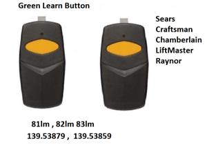 Ouvert D'Esprit Sears Liftmaster Chamberlain Craftsman 81lm Compatible Garage Door Remote 2pk Forme éLéGante