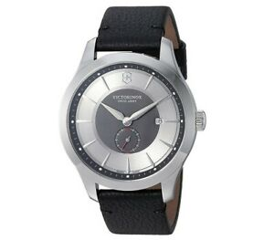 Victorinox Swiss Army Men's Alliance Leather Strap Watch - Authorized Dealer