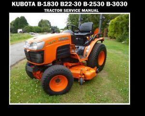 kubota b1830 b2220 b2530 b3030 service manual 520pg with tractor rh m ebay com Kubota B3030 Specs Used KUBOTA B3030 with Cab
