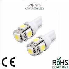 2X 24 VOLT GLB505 507 T10 LED White Wedge Bulbs Classic Gauge Sidelight Capless
