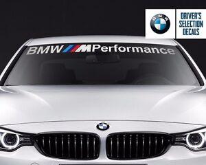 BMW M Performance outline new Windshield banner vinyl decals stickers