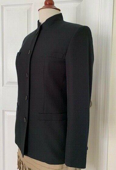 Talbot Women Black Jacket Size 4 Cotton/Silk Mand… - image 3