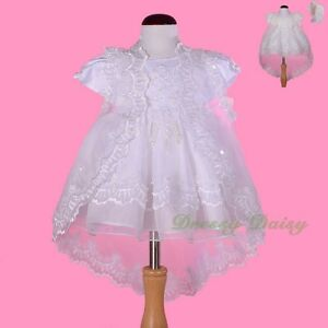 Beaded-Embroidery-Baptism-Christening-Dress-Gown-Cape-Bonnet-Baby-Sz-00-0-1-008