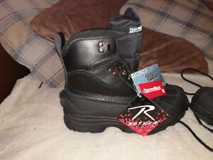 "Snow Boot 8/"" Black Cold Weather Hiking 5459 Rothco"