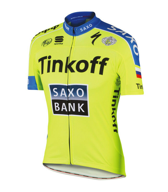 New TINKOFF SAXO BANK Pro Team Cycling Cycling Team Jersey by SPORTFUL e4518f