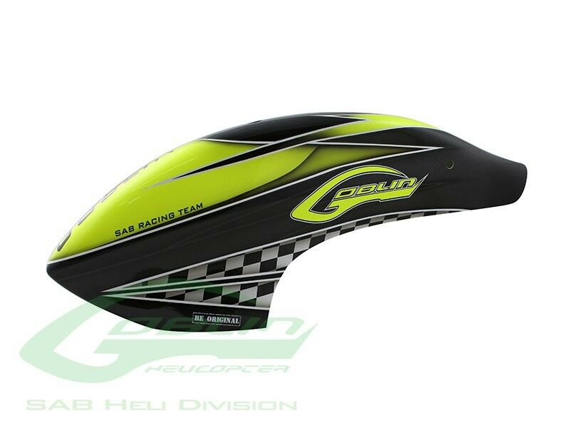 Canomod Airbrush Canopy SAB Yellow Carbon - Goblin 770 Competition