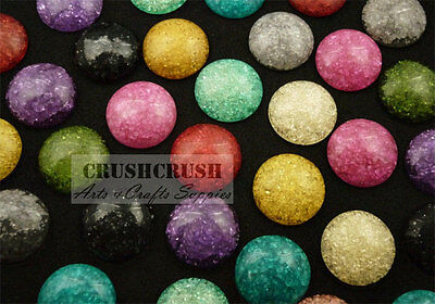 Free Ship--20pcs 18mm Assorted Color Round Cabochons Flat back Glue On Pad F1106