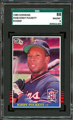 1985 Fleer #286 Kirby Puckett Twins ROOKIE RC NM-MT PSA 8 Graded Baseball Card