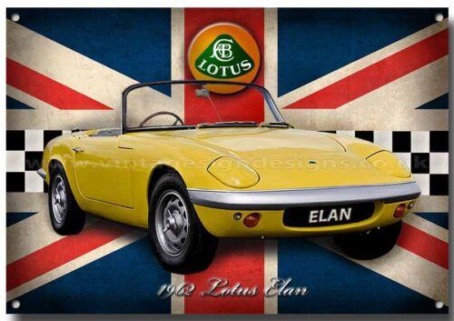 LOTUS ELAN 1962  METAL SIGN,CLASSIC LOTUS CARS,1960/'S CARS.ICONIC