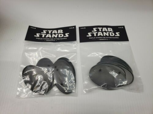 Star Stands Star Wars Type B Black Action Figure Display Stands 2pkgs of 5