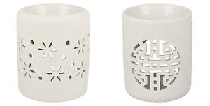 VC519-Bougie-Exterieur-Blanc-Ceramique-Cire-Bruleur-2-Styles-Super-Prix