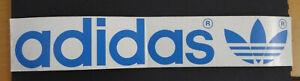 Promotional Stickers Adidas Logo 33 CM Blue Flower Logo Sportswear Vintage 80er