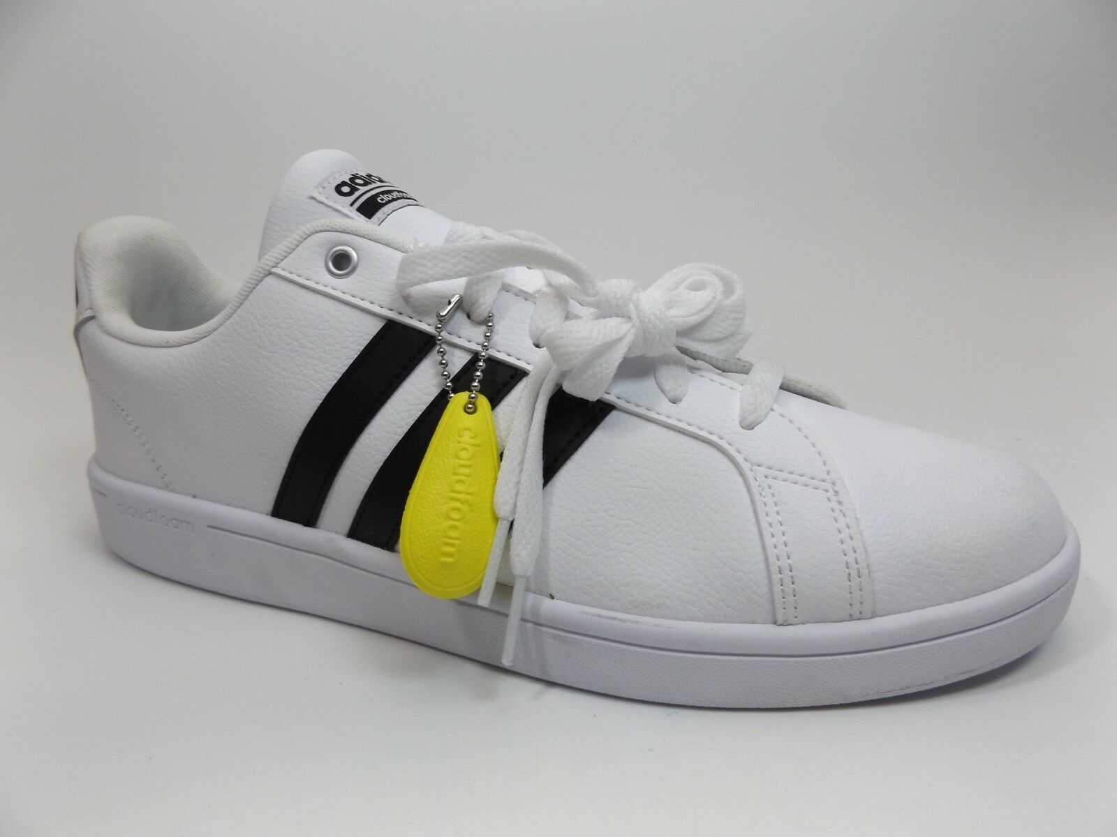 8e91150f4 Men Adidas Cloudfoam Advantage Fashion Sneaker SZ 11.5 M White NEW DISPLAY  D9461