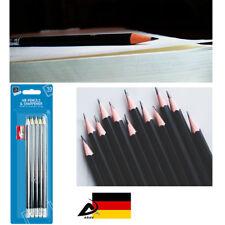 """10 Bleistifte mit Motiv Radierer /""""Herz/"""" HB"""