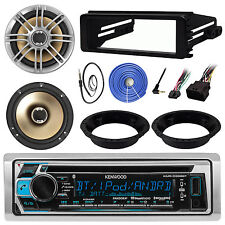 "Harley FLHT 98-13 Radio Adapter Kit, Bluetooth CD Receiver, Polk 6.5""Speaker Set"