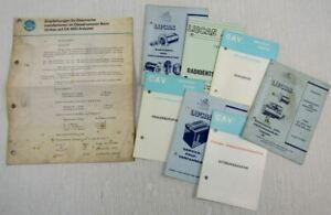 Testvorschrift Ca Wartungs- Prüfanleitungen 1960er Lange Lebensdauer Verantwortlich Lucas Service-karten