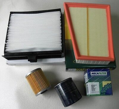 Service Kit For Renault Scenic II 1.9 dCi Air Oil Fuel Cabin Filter 2003 ->