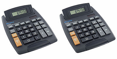Bello 2x Big Button Calcolatrice Da Scrivania 8 Cifre Scuola Grandi Casa Ufficio Batteria Solare-mostra Il Titolo Originale