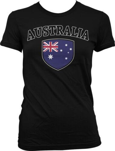 Australia Flag Crest Aussie National Country Pride Juniors T-shirt