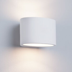 Image Is Loading Searchlight 8721 Gypsum White Plaster Oval Wall Light