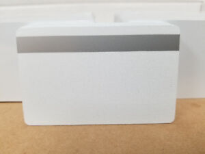 CR80.30 mil Silver PVC Cards w// HiCo 3 Track Magnetic Stripe Pack of 10 Seal