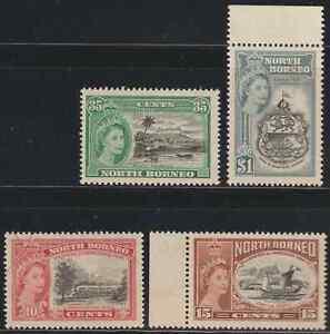 NORTH-BORNEO-1956-75TH-ANNIV-OF-BRITISH-NORTH-BORNEO-COMPANY-SET-4V-MNH