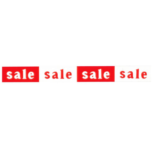 New Sale Horizontal and Vertical Red//White Window Posters And Sale Signs