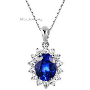 3.6CT Oval Blue Tanzanite Gemstone 925 Sterling Silver ...