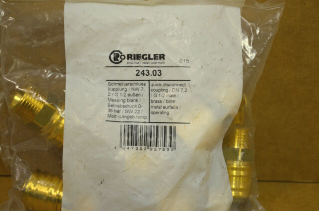 """Riegler 243.03 NW 7,2 x G 1/2"""" Aussengewinde, Schnellkupplung, Druckluftkupplung"""