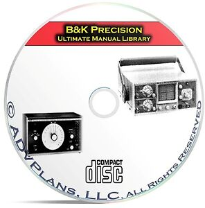 Ultimate-Instruction-Manual-Library-B-amp-K-Precision-411-Operating-Manuals-CD-C09