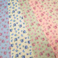 Rose Floral Flutterby Butterflies Toss On 100% Cotton Dress Fabric