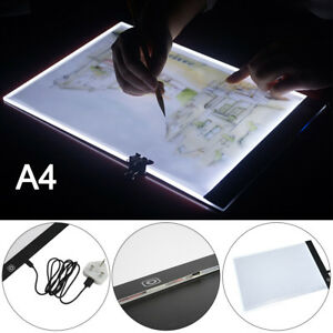 Office & School Supplies Notebooks & Writing Pads A4 Led Stencil Board Light Box Artist Tracing Drawing Copy Plate Table Gift